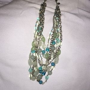 Lia Sophia glass beaded necklace excellent shape